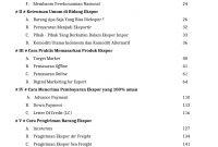Daftar Isi Buku Panduan Ekspor UMKM Indonesia