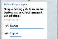 Polling Channel Telegram Belajar Ekspor Impor
