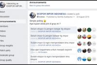 Survey Ekspor Grup FB Belajar Ekspor Impor